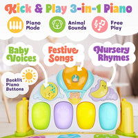 BABYSEATER Baby Gym Kick and Play Piano Activity