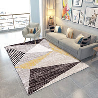 ORGRIMMAR Modern Geometry Carpets Indoor Silky Smooth Rugs Living Room Area Rugs Suitable for Children Play Home Decorator Floor Bedroom Carpet 2.6 Feet by 4 Feet