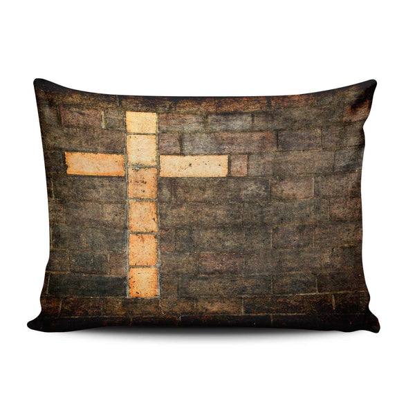 SALLEING Custom Plain Unique Jesus Christ Christian Cross Decorative Pillowcase Pillowslip Throw Pillow Case Cover Zippered One Side Printed 12x16 Inches