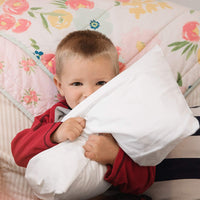 "[4-Piece] 2 Pillows & 2 Pillowcases | Baby Toddler Pillows with Pillowcases | 13"" X 18"" Toddler Pillow Set 