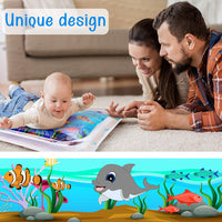 Inflatable Water Play Mat for Tummy Time, Baby water mat Infants & Toddlers, Toys for Infant Early Development for 3-12 Months, Newborn Boy Girl, Activity Center Your Baby's Stimulation Growth