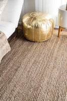nuLOOM Eleonora Hand Woven Accent Jute Rug, 2' x 3', Grey