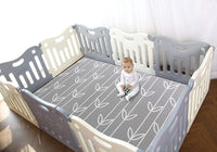 Baby Care Play Mat Pen (Grey)