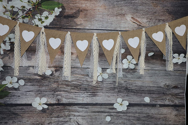 Lace Garland, Lace Rag Tie Garland Burlap Banner for Baby Shower Wedding Backdrop Party Decor Shabby Chic Banner Boho Decor 4Ft