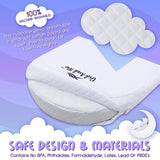 Bassinet Wedge Pillow for Baby - Universal - 3 Elevation Options for Better Sleep | Aids in Relieving Reflux | Nasal Congestion | Feeding - Happy Baby and Happy Parents - Cotton Fabric w/Carry Case