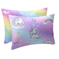 48*35cm(19*14inch) Cute Rainbow Unicorn Pattern Pillow Case Cover for Baby Girl's Room Cartoon Animal Pillow Cover Baby Shower