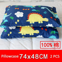 Universal Children Pillowcase 74x48cm Cotton Kid Pillow Case Dust Proof Pillow Protection Cover 2 pcs/lot Lovely Baby Pillowcase