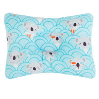 [simfamily] Comfortable Cartoon Infant Support Prevent Anti Roll Baby Pillow Flat Head Neck Infant Cotton Cushion Baby Pillows