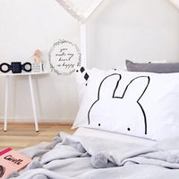 Kids Pillow Case 45x70cm Rabbit Arrow Baby Pillow Cover For Kids Bedding Black White Cotton Room Decorative Cushion Pillowcases