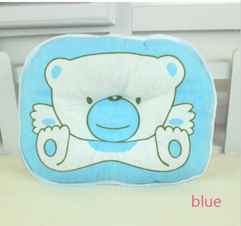 Soft Baby Pillow Cases Infant Toddler Durable Plastic + Rubber Lovely Baby Bedding Cute Cartoon Bear Print Oval New Arrival