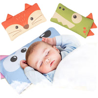 Baby Pillow Washable Neck Pillow Toddlers Animal Fox Dog Crocodile Weeping Willow Kids Rectangle Cushion 100% Cotton Pillow Case
