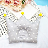 ideacherry Cotton Baby Pillow Crown Infant Shaping Pillow Cartoon Newborn Positioner Anti-roll Cushion Flat Head Protection Tool
