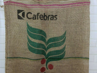 (2)Bags CafeS Do BRASIL Brazil Coffee Bean Jute Burlap Sack Bag Decor 27x38""