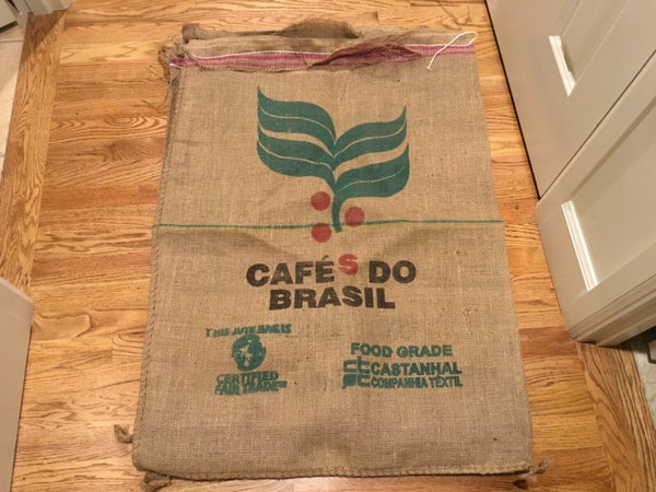 10 COFFEE BEAN JUTE BURLAP SACK Bags for Crafts Decor/ potato sack race
