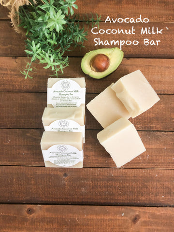 Avocado Coconut Milk Shampoo Bar/ Helps Dandruff/ Dry Hair Types