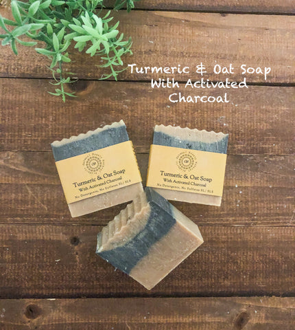 Turmeric & Oat Soap with Activated Charcoal