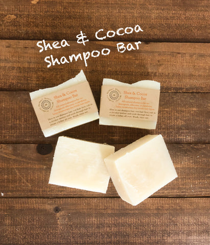 Shea & Cocoa Shampoo Bar/ Helps Moisturizes Dry Brittle Hair/Processed Color Hair types