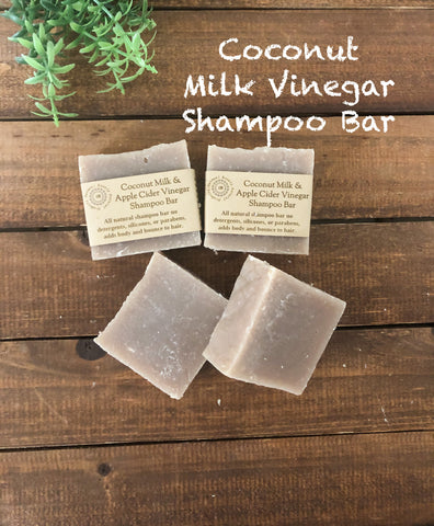 Coconut Milk &Apple Cider Vinegar Shampoo Bar/ Adds Body and Bounce