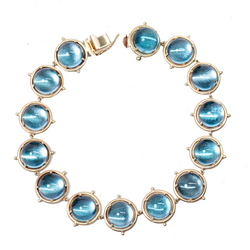 ONE OF A KIND .......BLUE TOPAZ ETERNITY BRACELET