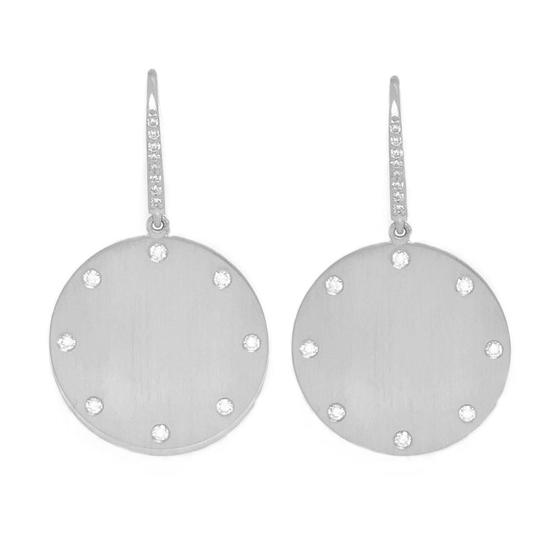SPHERE 8 WHITE GOLD EARRINGS