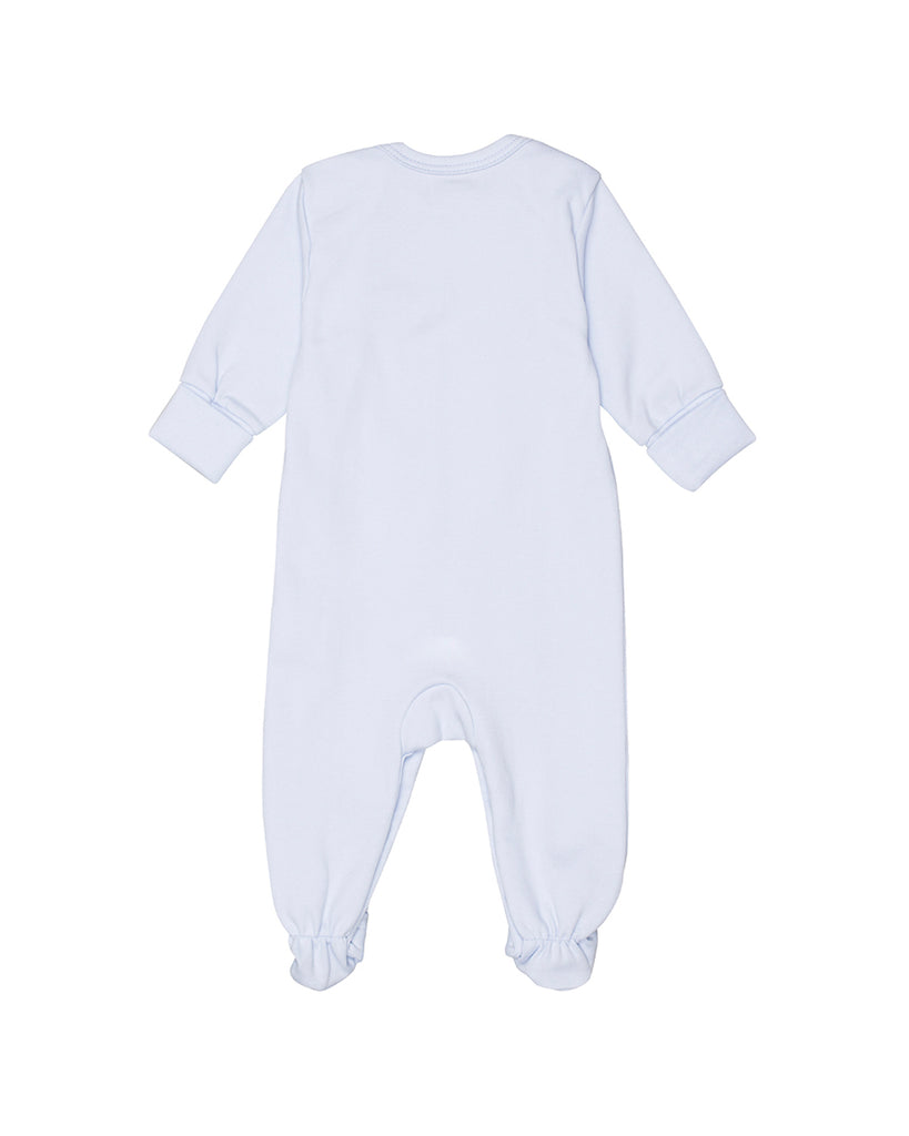 baby blue long sleeve footie