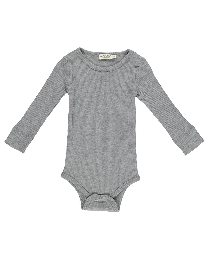 grey long sleeve ribbed body