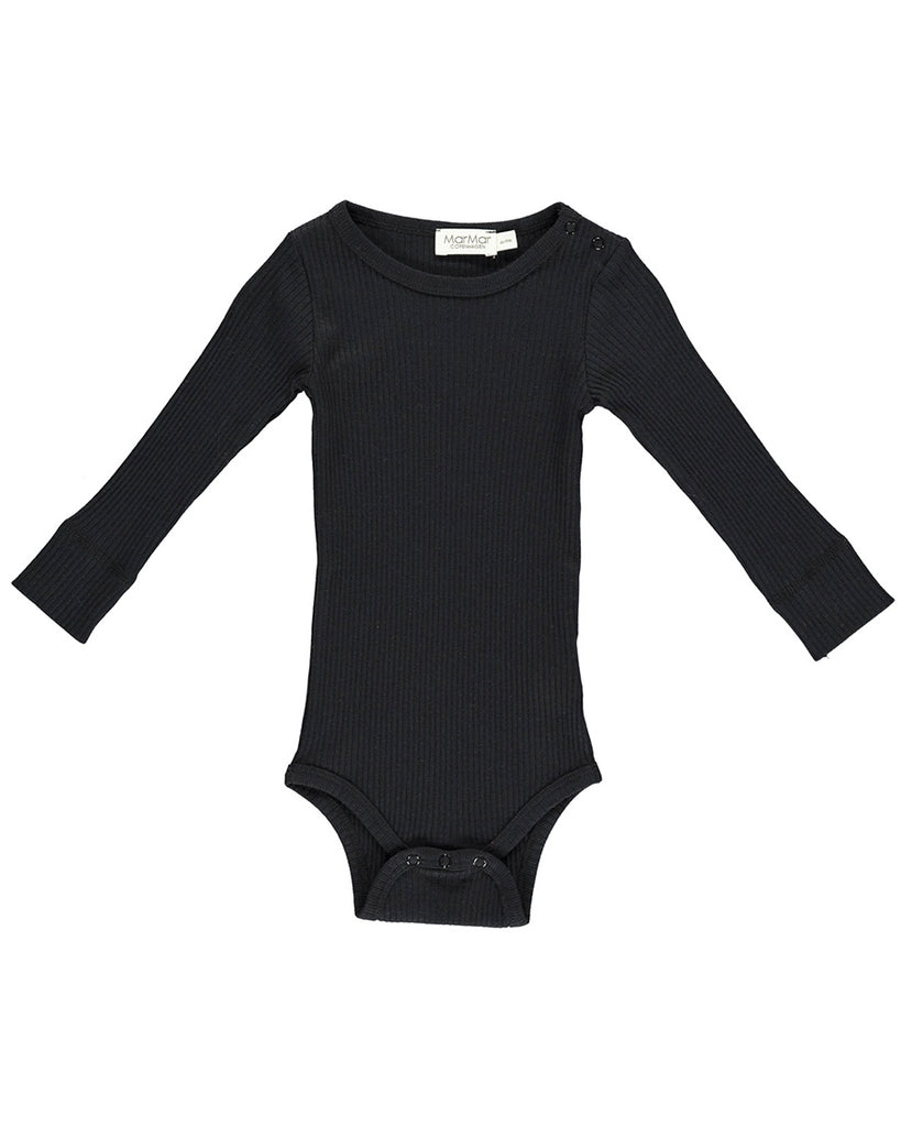 black long sleeve ribbed body