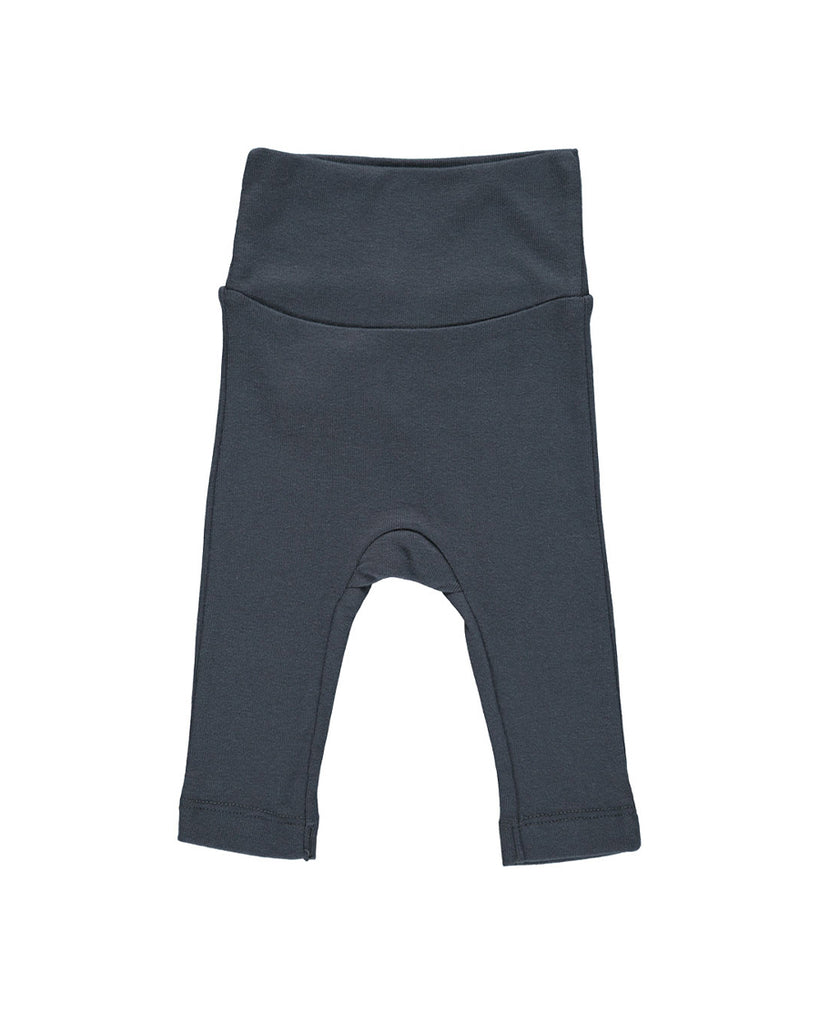 dark blue soft wide waistband leggings
