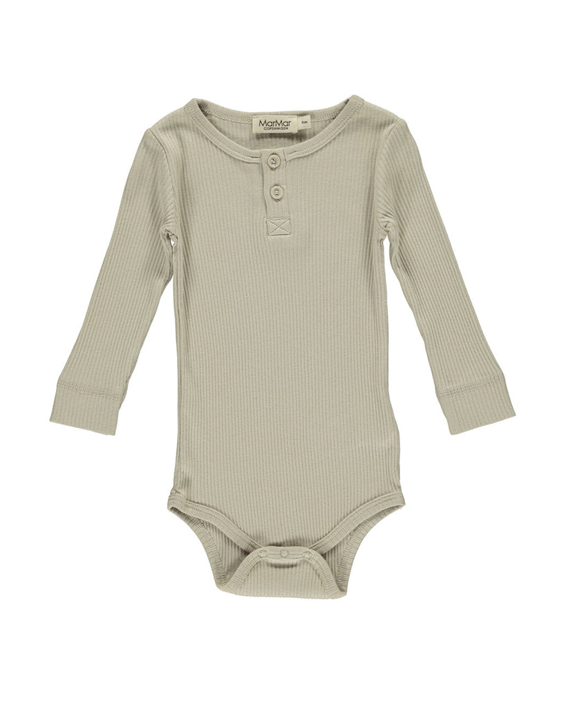 grey sand rib knit long sleeve body