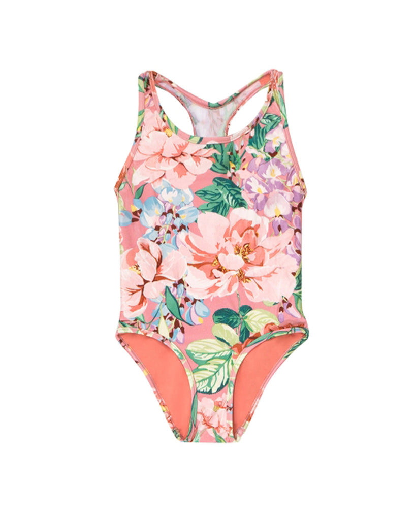 Bellitude Racer Back Swimsuit - Watermelon Floral