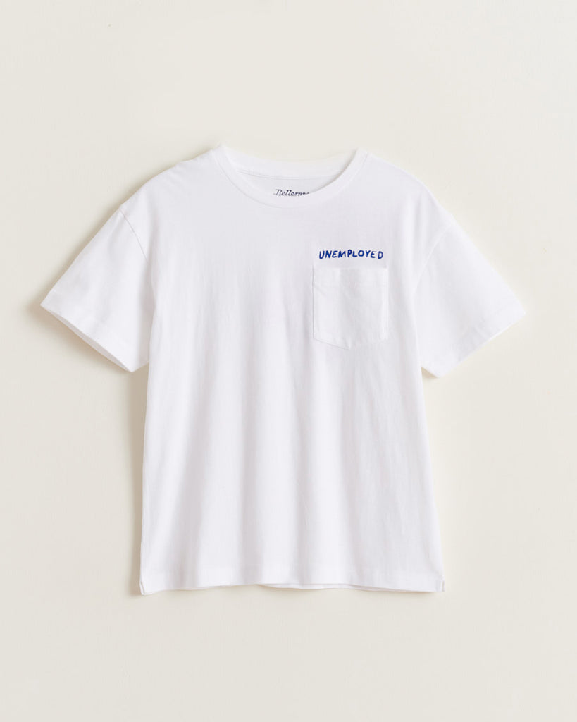 white unemployed skater graphic t-shirt