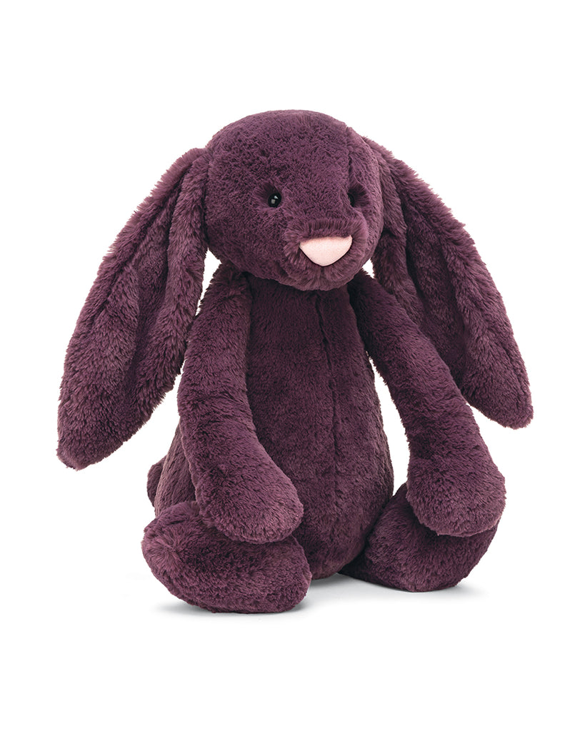 Plum bunny stuffed animal huge