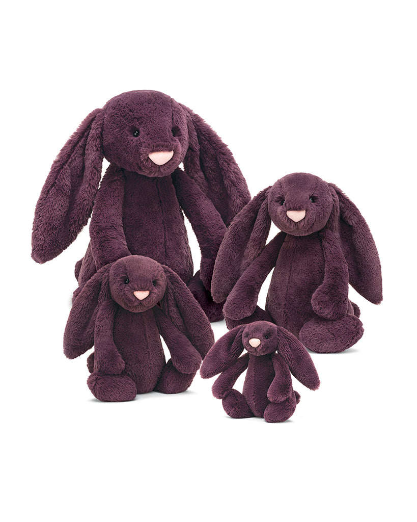 Plum bunny stuffed animal huge large medium small