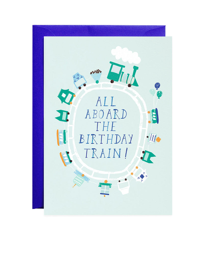 All Aboard the Birthday Train Greeting Card