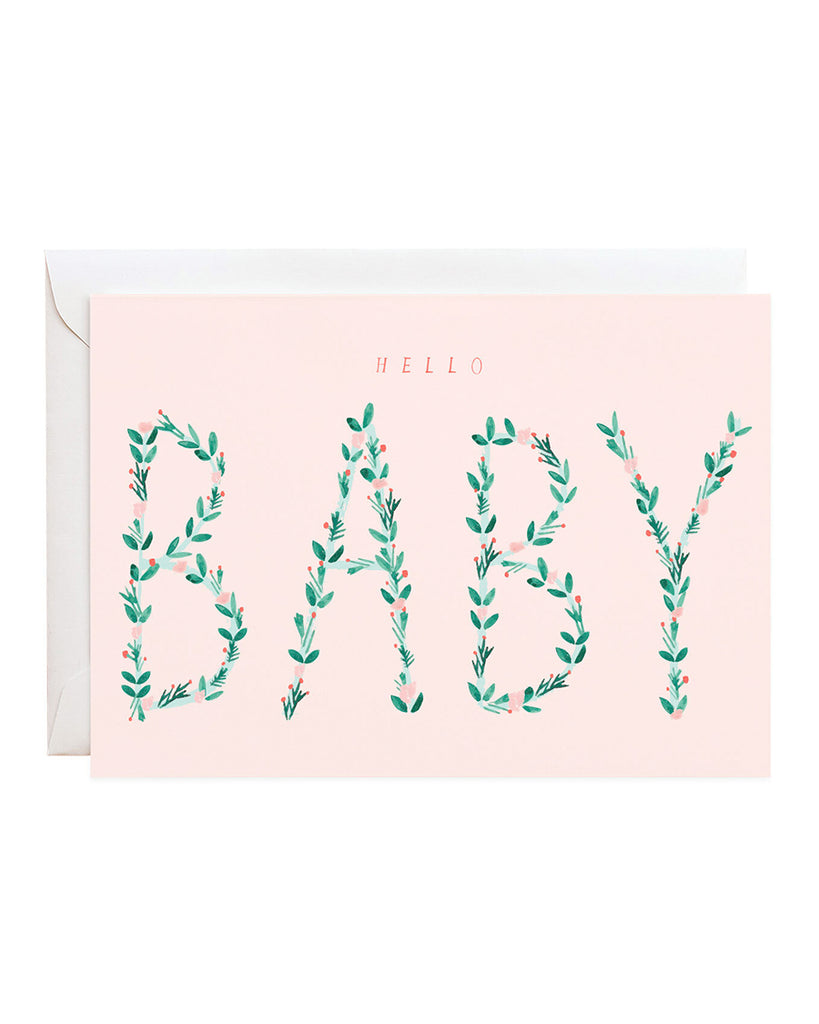 hello baby illustrated greeting card