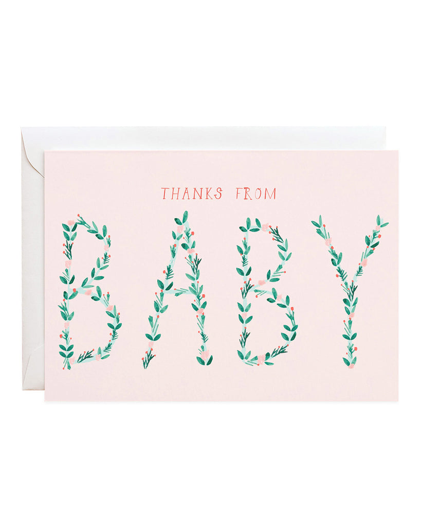 thanks from baby boxed note cards