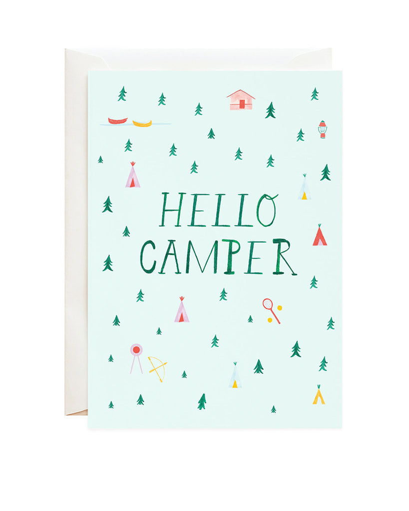 camp illustration print greeting card