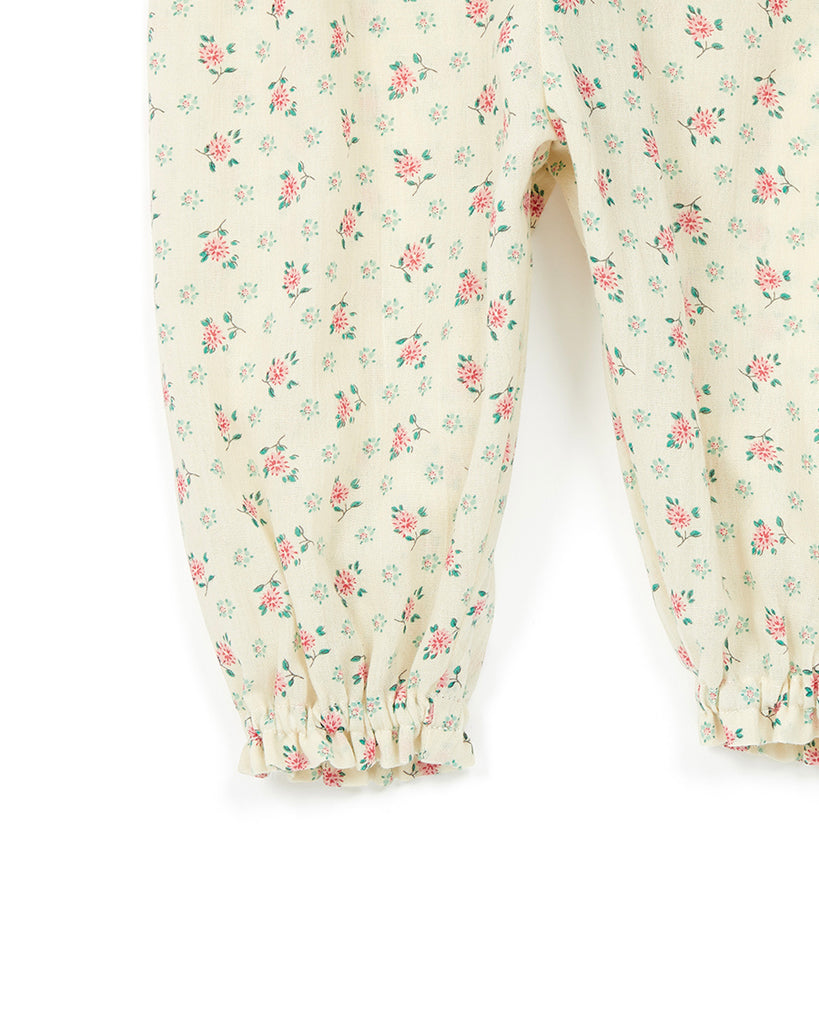 off white floral ditsy print harem pants detail