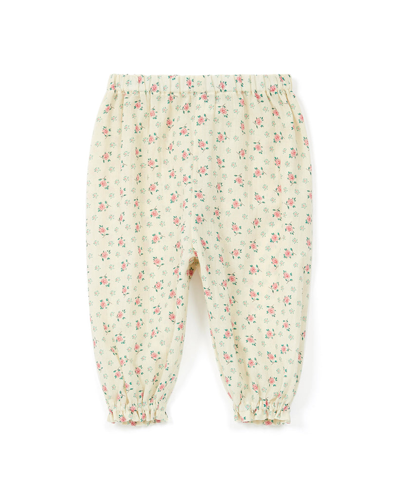 off white floral ditsy print harem pants