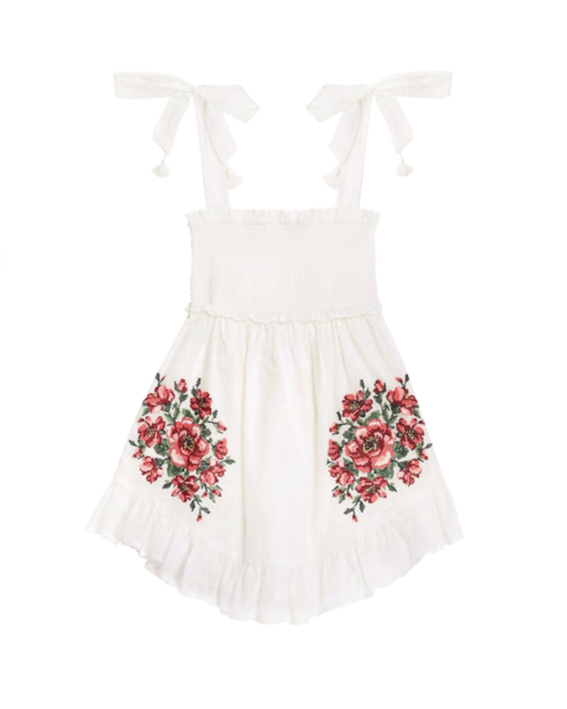 Zimmerman Embroidered Dress Poppy