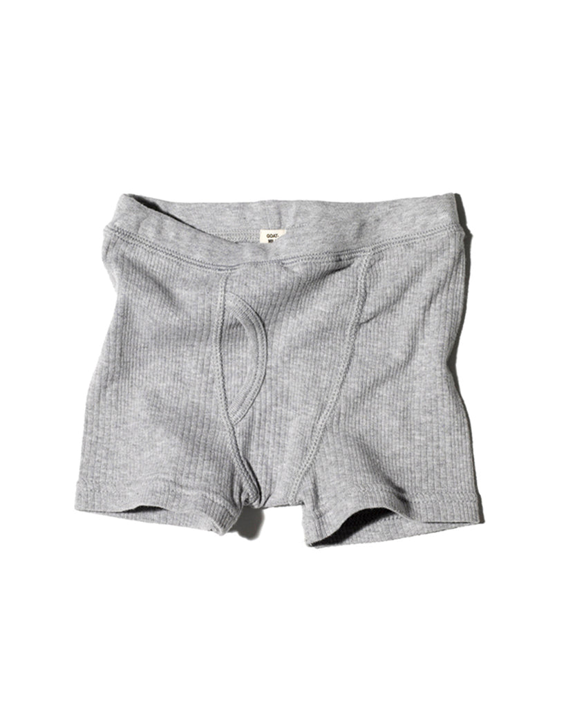heather grey ribbed boxer briefs