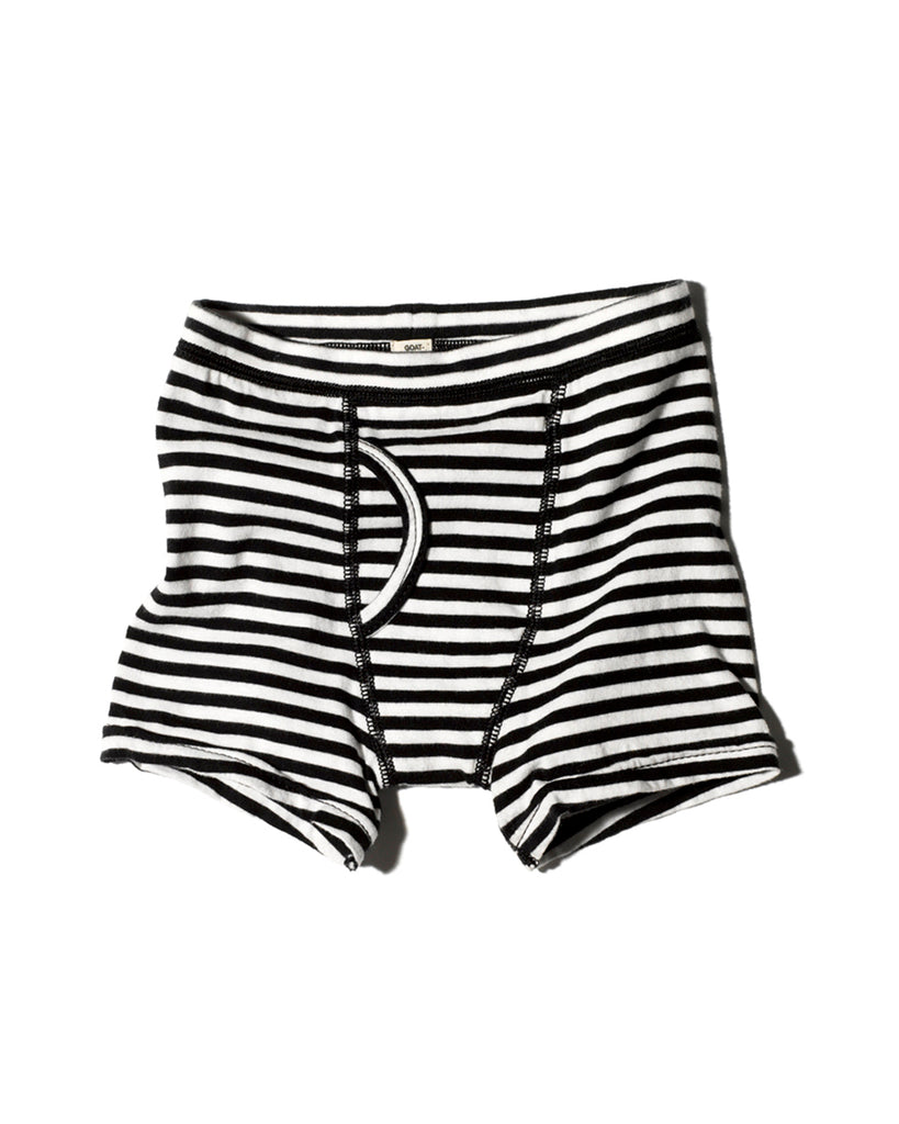 black and white stripe boxer brief