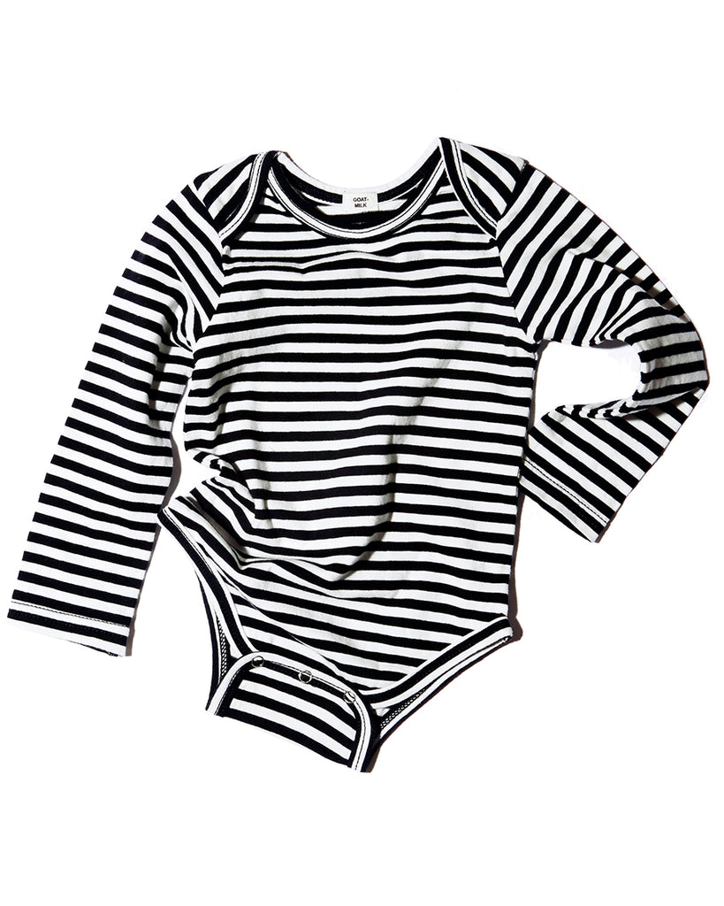 Long Sleeve Onesie - Stripe - English Rabbit