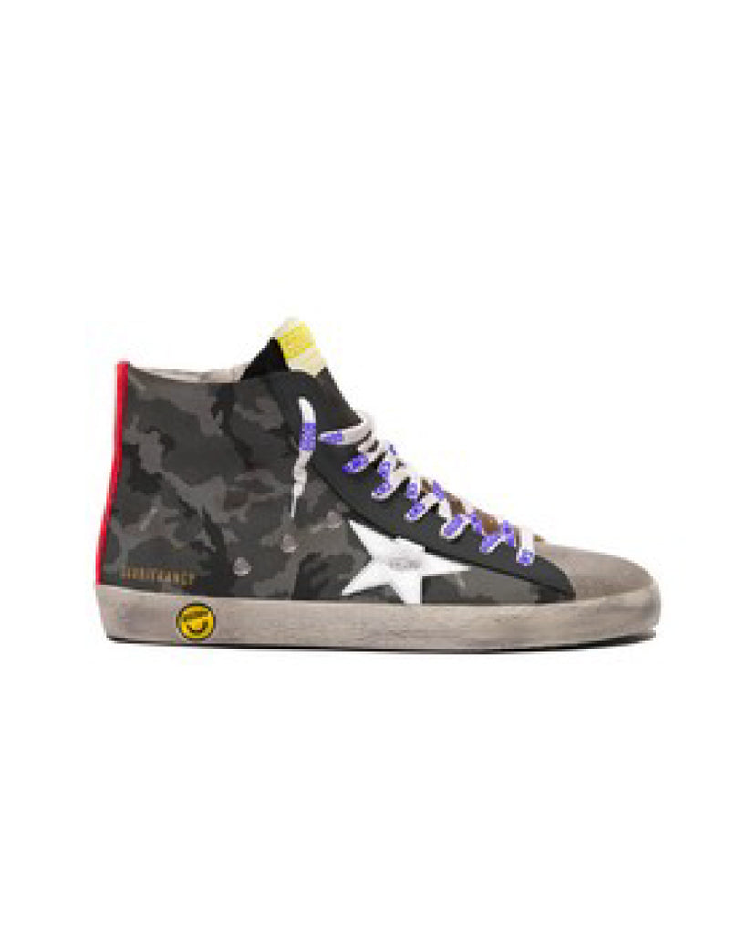 Francy Sneakers (UK19-27) - Grey Camo/Ice/White/Ruby