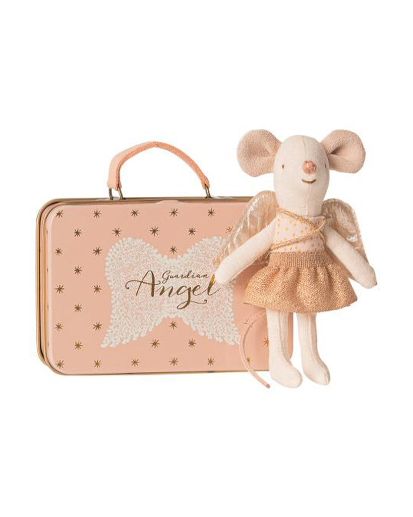 gauardian angel mouse with suitcase toy