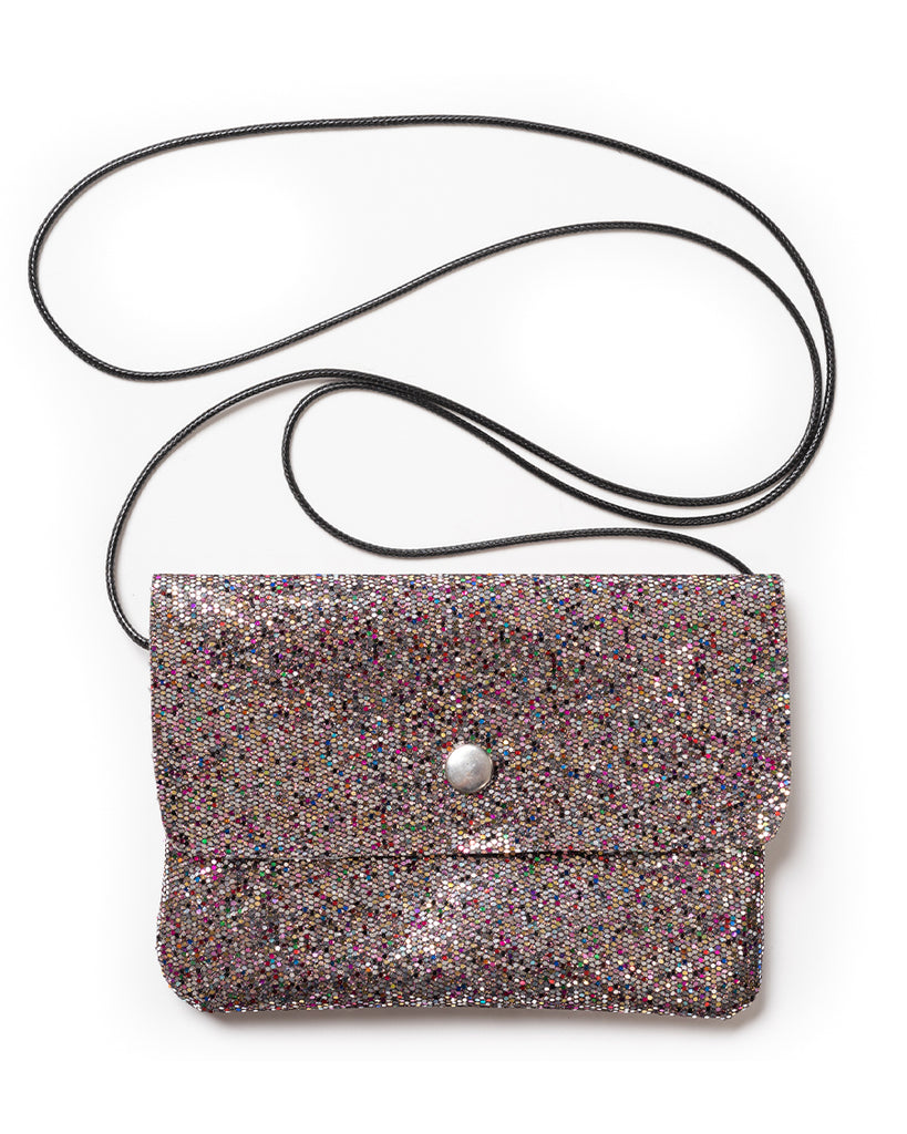Multi glitter mini shoulder bag