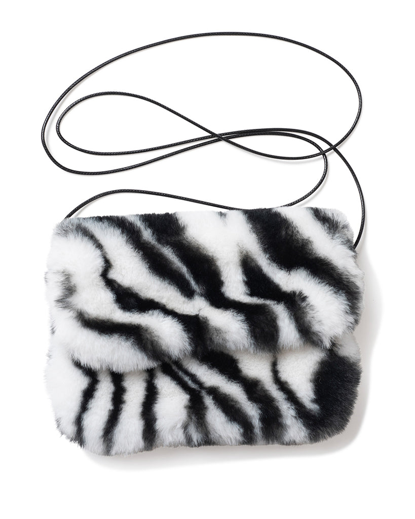 Zebra Mini Purse - Black/White