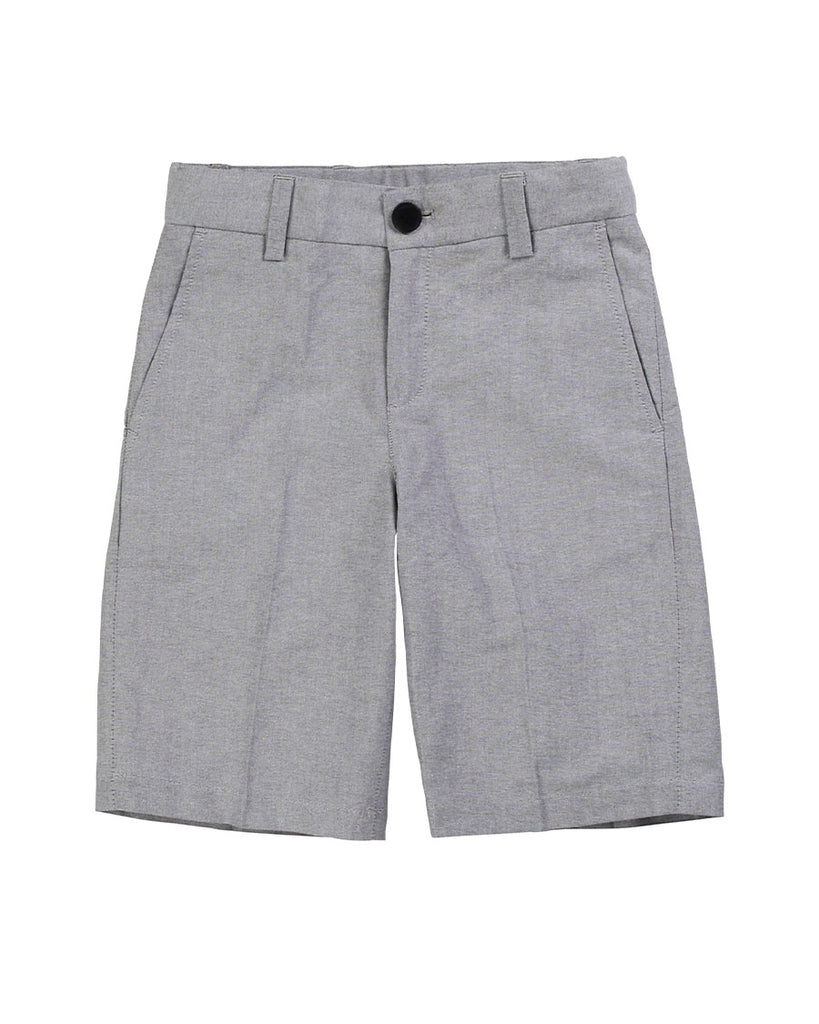 grey suit shorts