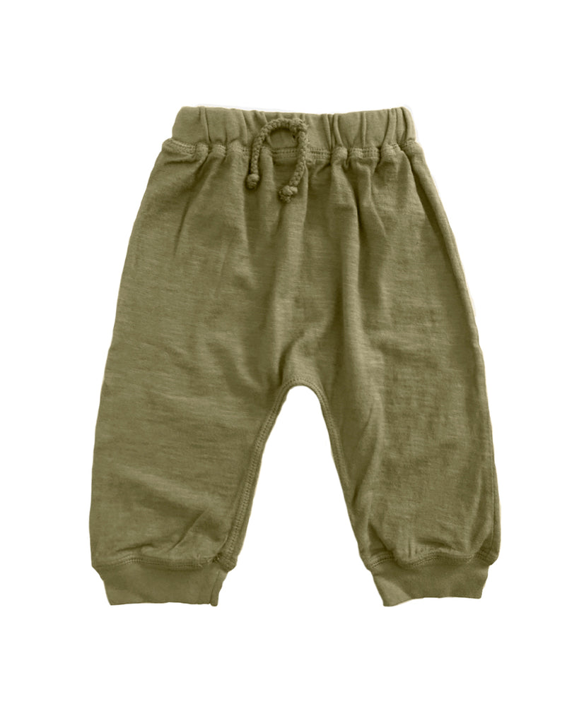 olive green jersey jogger