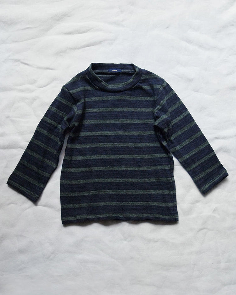 Kelly Long Sleeve Tee - Navy/Green